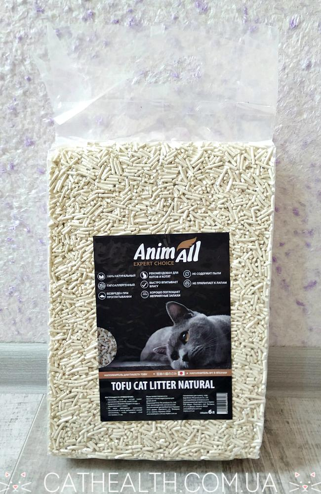 Наполнитель AnimAll Tofu Cat Litter Natural 6 л